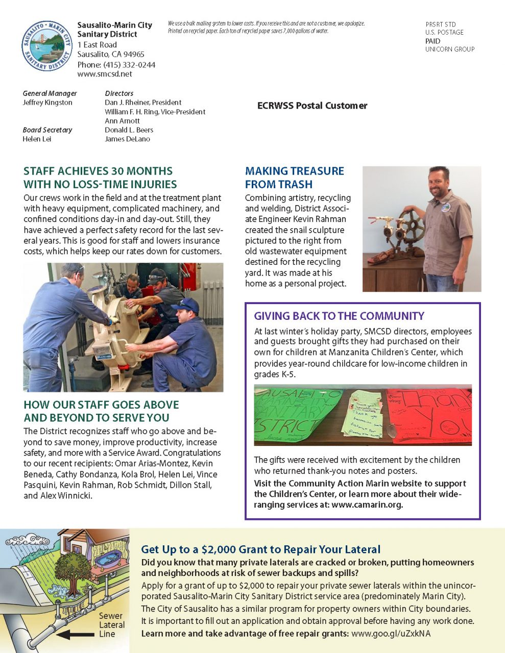 Fall 2017 Newsletter - Page 2